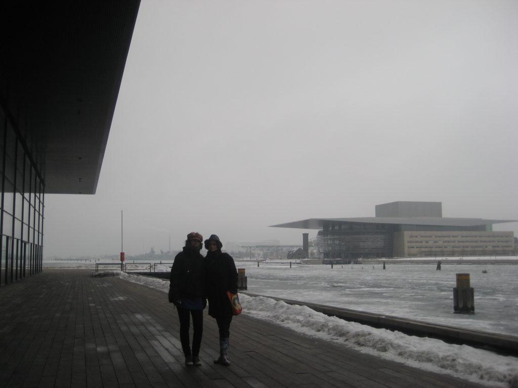 La Opera de Copenhague vista desde el Black Diamond
