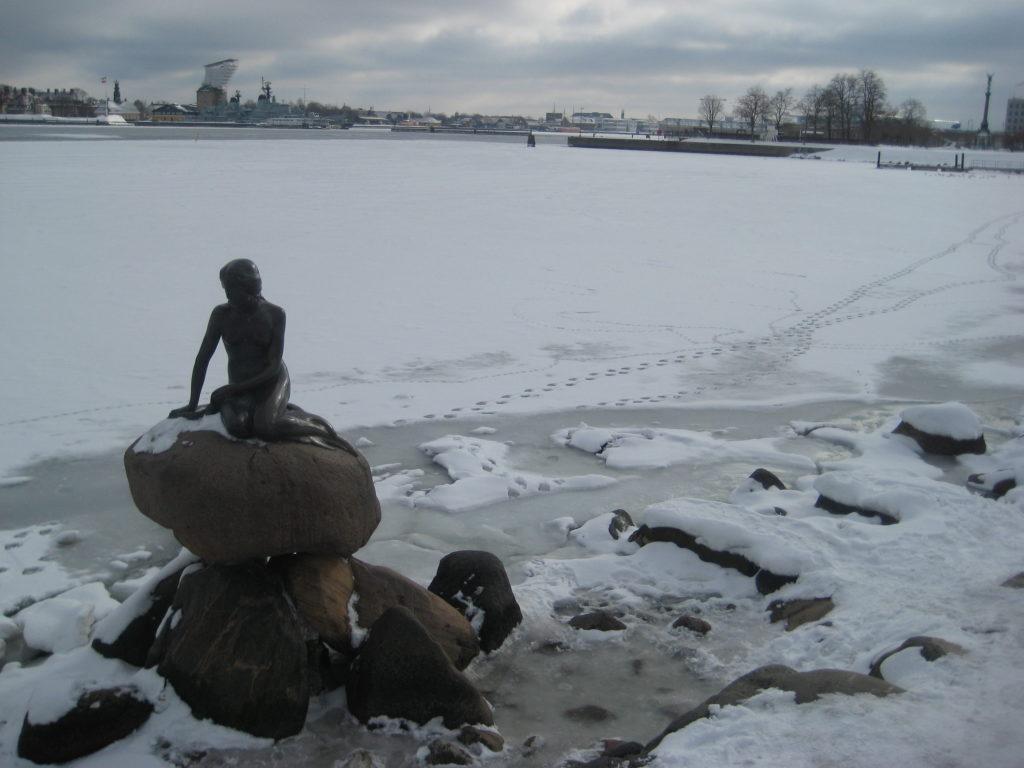 La Sirenita de Copenhague.