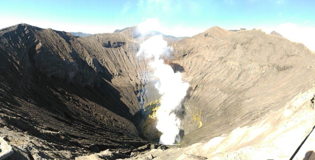 Cráter del volcán Bromo